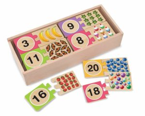 Self Correcting Wooden Number Puzzle