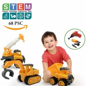 Take a Part Construction Vehicle Set of 3