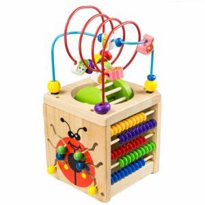Wooden Activity Cube Deluxe