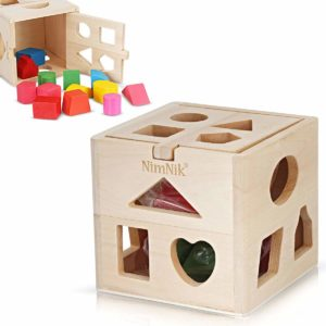 Wooden Shape Sorting Cube Classic
