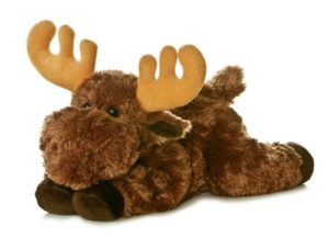 stuffed moose animal toy