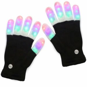 LED Finger Light up Gloves Colorful Flashing Rave Glow Lighting