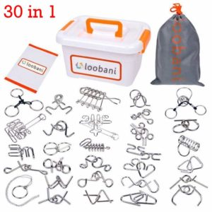LOOBANI Assorted Brain Teasers Metal Wire