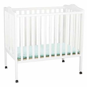Delta Children Folding Portable Mini Baby Crib with Mattress